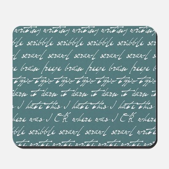 Scribble scribble... Mousepad