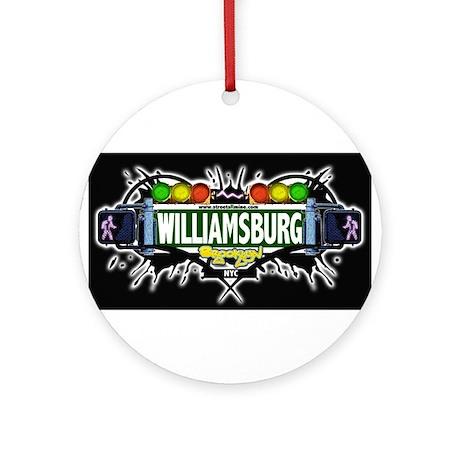 Williamsburg Brooklyn NYC (Black) Ornament (Round)