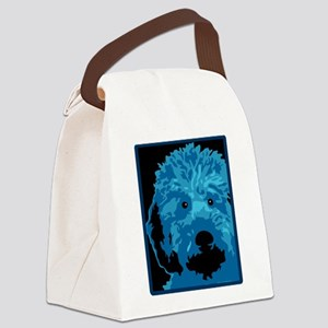 What a blue dog! Canvas Lunch Bag