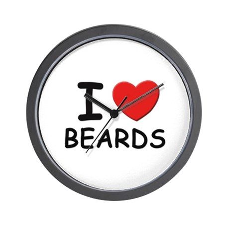 I love beards Wall Clock