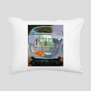 Fish Bowl Rectangular Canvas Pillow