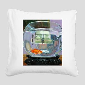 Fish Bowl Square Canvas Pillow