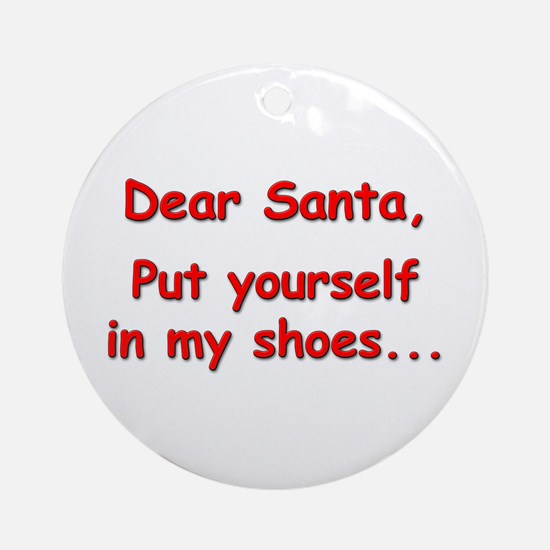 """My Shoes"" Ornament (Round)"