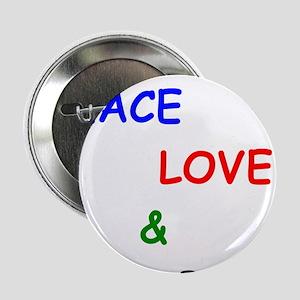 "Peace Love and Bar B Q 2.25"" Button"