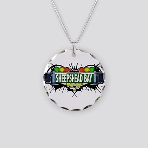 Sheepshead Bay Brooklyn NYC (White) Necklace Circl