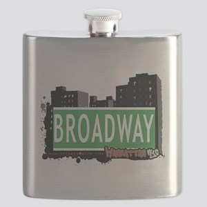 BROADWAY, MANHATTAN, NYC Flask