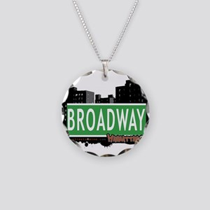 BROADWAY, MANHATTAN, NYC Necklace Circle Charm