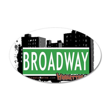 BROADWAY, MANHATTAN, NYC 20x12 Oval Wall Decal