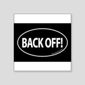 BACK OFF Auto Sticker -Black (Oval) Sticker