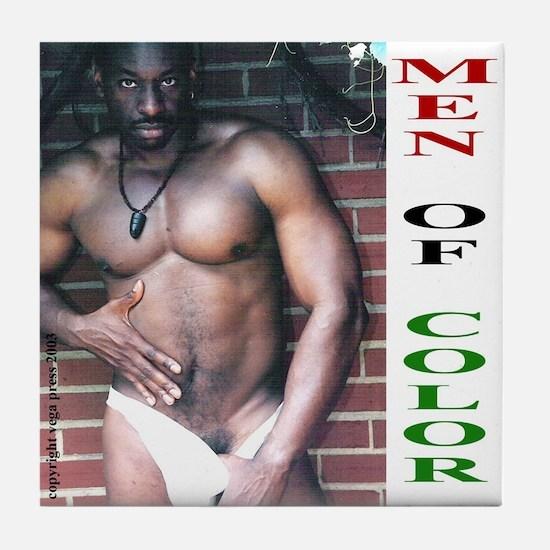 Men of Color #1 Tile Coaster