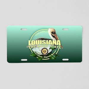 Louisiana State Bird & Flower Aluminum License Pla