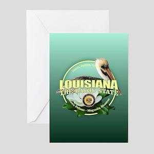Louisiana State Bird & Flower Greeting Cards