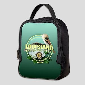 Louisiana State Bird & Flower Neoprene Lunch Bag
