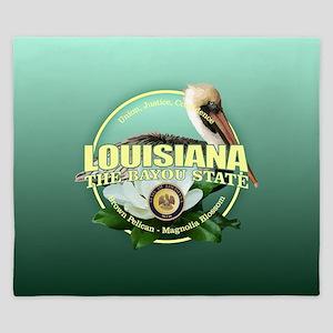 Louisiana State Bird & Flower King Duvet