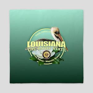 Louisiana State Bird & Flower Queen Duvet