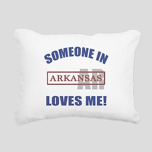 Someone In Arkansas Loves Me Rectangular Canvas Pi