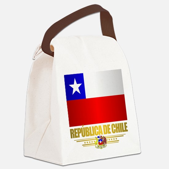 Flag of Chile Canvas Lunch Bag