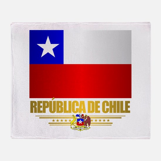 Flag of Chile Throw Blanket