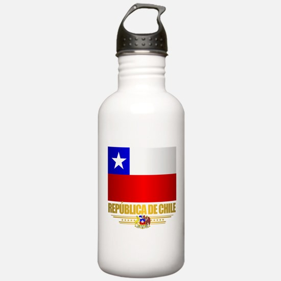 Flag of Chile Water Bottle