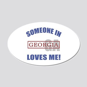 Someone In Georgia Loves Me 20x12 Oval Wall Decal