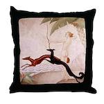 Art Deco Borzoi Diana Throw Pillow