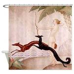 Art Deco Borzoi Diana Shower Curtain