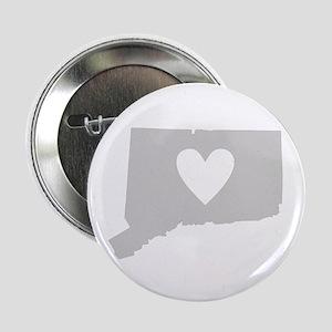 "Heart Connecticut 2.25"" Button"