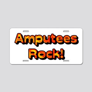 Amputees Rock! Aluminum License Plate