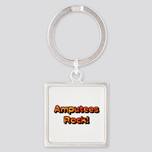 Amputees Rock! Square Keychain