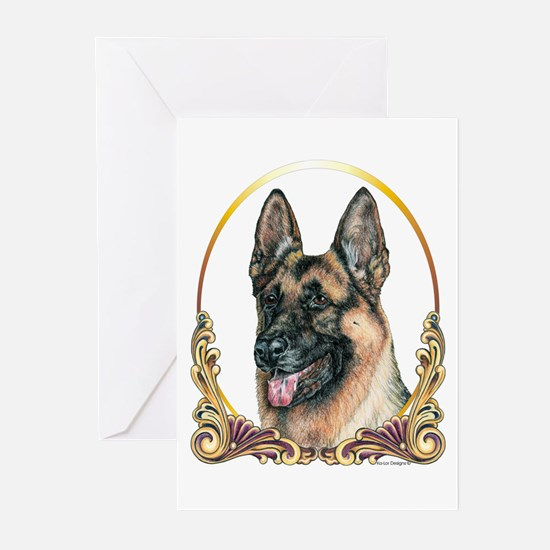 German Shepherd Holiday/Christmas Greeting Cards (