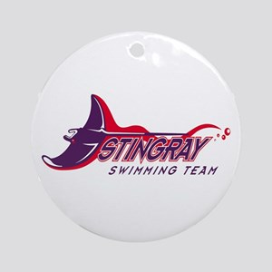 Stingray Swim Team Ornament (Round)