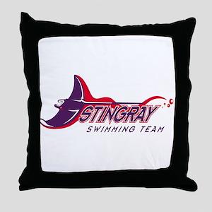 Stingray Swim Team Throw Pillow