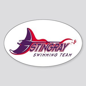 Stingray Swim Team Oval Sticker
