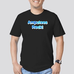 Amputees Rock! Men's Fitted T-Shirt (dark)