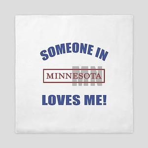 Someone In Minnesota Loves Me Queen Duvet