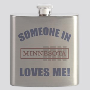 Someone In Minnesota Loves Me Flask