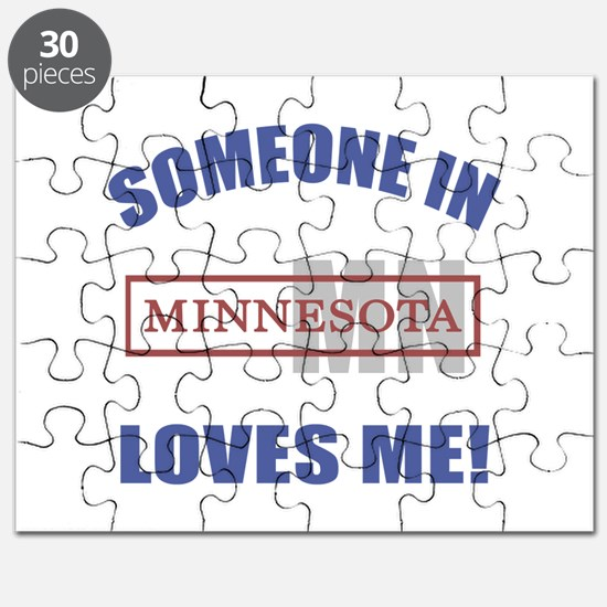 Someone In Minnesota Loves Me Puzzle