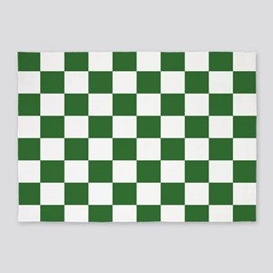 Chartreuse Checkerboard 5'x7'Area Rug