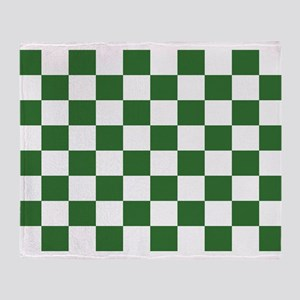 Chartreuse Checkerboard Throw Blanket