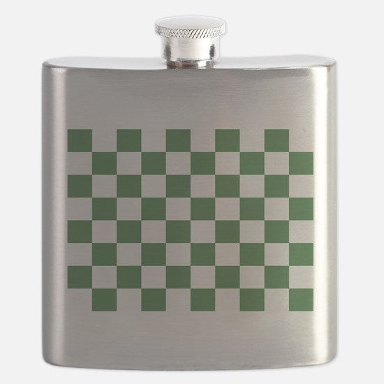 Chartreuse Checkerboard Flask