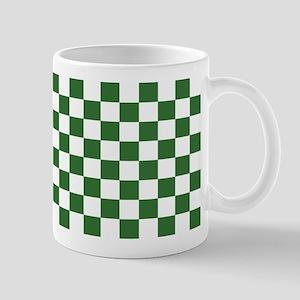 Chartreuse Checkerboard Mug