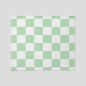 Mint Green checkerboard Throw Blanket