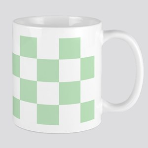 Mint Green checkerboard Mug