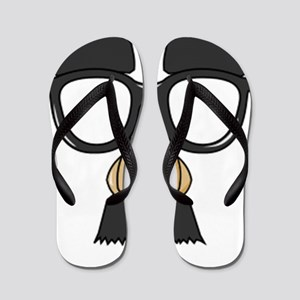 Funny Glasses with Mustache Flip Flops