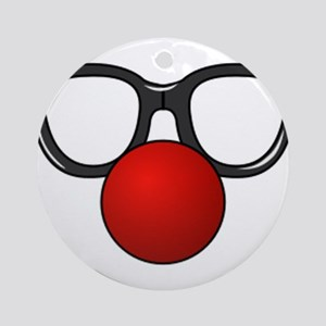Funny Glasses with Clown Nose Ornament (Round)