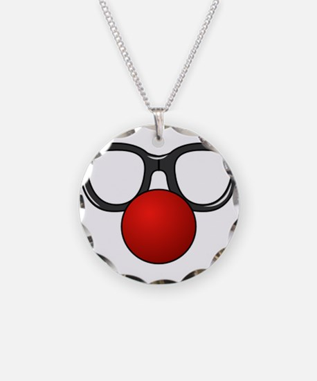 Funny Glasses with Clown Nose Necklace