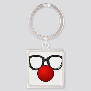 Funny Glasses with Clown Nose Keychains