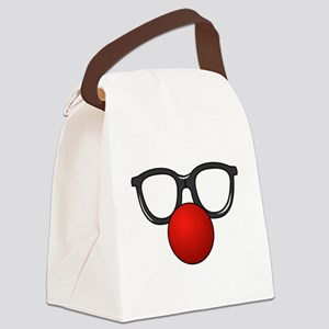 Funny Glasses with Clown Nose Canvas Lunch Bag