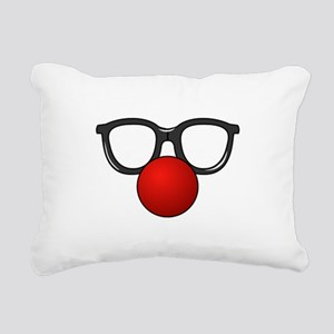 Funny Glasses with Clown Nose Rectangular Canvas P