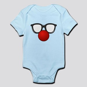 Funny Glasses with Clown Nose Body Suit